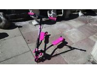 Used twice. Pink and black fliker/flicker/scooter.