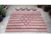 Roof tiles for front door canopy