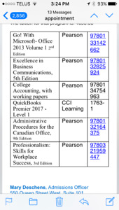 LOOKING TO BUY ADMINISTRATION ASSISTANT TEXTBOOKS