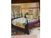 Tapestry BedSpread (floral/yellow/red/purple)