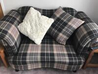 D.F.S. Moray Check Cuddler Sofa x2