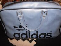 1970S ADIDAS PETER BLACK GYM SPORTS BAG