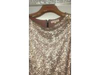 Gold sequins dress size 8