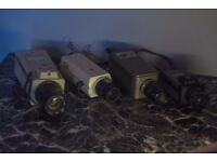 4 commercial CCTV cameras (Near mint)