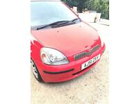 Toyota Yaris 1.0 litre Red 5 door mint condition dual controls