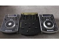 Numark NDX400 CDJ's and Numark DM3002X Mixer