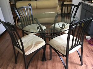 Glass Table and Chairs $60 OBO
