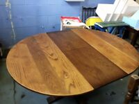 Wood bros 'Old Charm' Dining table & six chairs