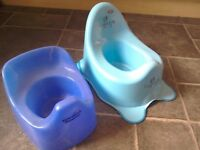 Potties x2. One is brand new + Tommee Tippee is used excellent condition