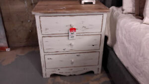 Blanche Reclaimed Wood Nightstand 3 Dr. NEW Reg $1035