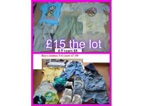 boys clothes 3-4 years and 4-5 years, zip up 4-5 £2 or £15 the lot