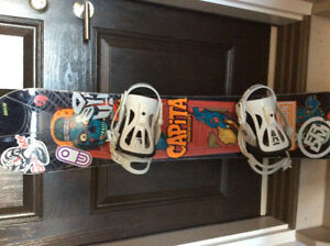 Capita snowboard with Union bindings