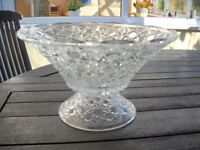 large glass punch/fruit bowl.