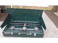 Coleman Duel Fuel Cooker. Triple burner.