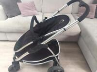 ICandy Strawberry pram with carry cot and accessories