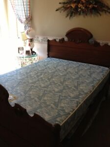 Antique bed and mattress