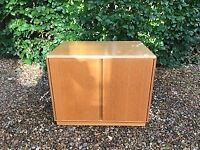 SOLID WOOD, 2 DOOR STORAGE CABINET (GOOD 'USED' CONDITION) £15