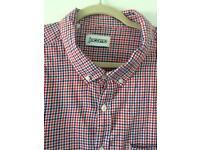 Jacamo Mens 3xl Red White Blue Checked Short Sleeve Shirt