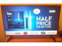 JVC 43 Black With Silver Frame Led Smart Ultra HD TV - Model: LT43C860- COLLECTION ONLY!! £224.95