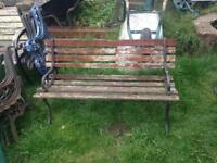 Garden bench cast iron ends no thrills fit for purpose