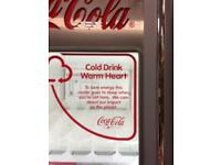 Coca Cola drinks fridge shop or commercial