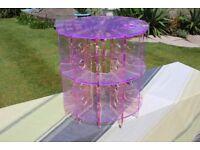Pink perspex Shop display unit, 40cm wide 41cm high
