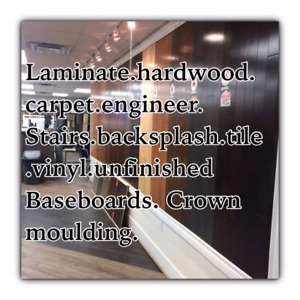 MISSISSAUAGA LARGEST VINYL.BASEBOARD.CROWN.STAIRS.CARPET