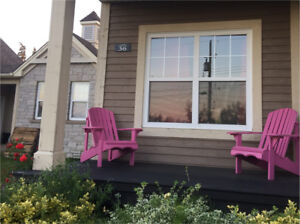 2 Wooden Adirondack Chairs $120 for Both