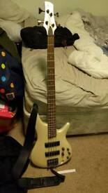 Ibanez SR300 bass guitar with amp (can deliver)