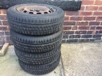 4no Coopers CS2 tyres on steel rims 175 x 65 x R14 came of a Fiesta £80ono