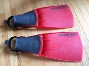 "Scuba Dive Fins ""US Diver""  adjustable open heel"