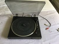 Sony turntable and pair of speakers