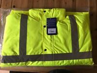 BRAND NEW Portwest Hi Vis Jacket. Large
