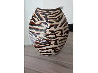 Handmade Brown Glazed Vase (matching large plate available seperately)