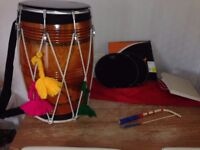 Dhol with Extras including Skins and Case