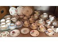 JOB LOT VINTAGE BONE CHINA TEA SET CROCKERY ~ TEA PARTY ~ COFFEE MORNING