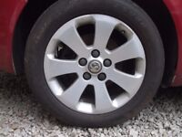 VAUXHALL INSIGNIA 17 INCH ALLOY WHEEL AND TYRE USED RING FOR MORE INFO