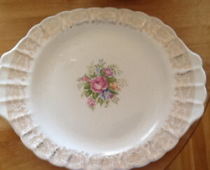 ANTIQUE LIMOGES PLATTER 22K GOLD TRIM also PLATE, TINS, MORE  AN