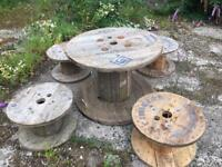 Table and stool cable drums