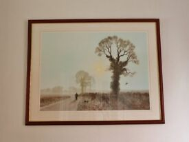 Frosty Morning by Gerald Coulson Large Framed Print / Landscape Picture
