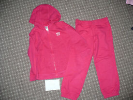 Girl's tracksuit: hoodie and joggers for 4-5 years. Hardly used.