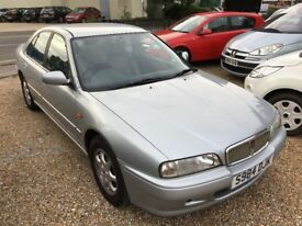 1998 ROVER 600 618 L 1.8 SALOON SILVER WITH LEATHER INTERIOR