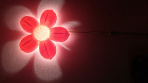 Pink Flower Wall Lamp