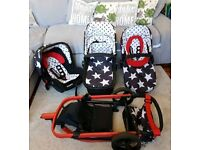 Cosatto 'All star' giggle travel system - Excellent condition
