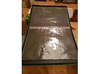 A2 art folder portfolio with plastic dividers