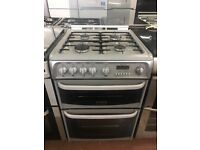 60CM SILVER CANNON GAS COOKER