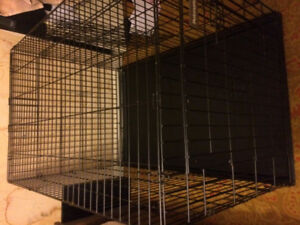 L/XL metal dog crate for sale!
