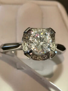 NEW! 1.00TCW WITH 0.80CT CENTER DIAMOND ENGAGEMENT RING 60% OFF
