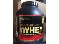 OPTIMUM NUTRITION GOLD STANDARD 100% WHEY PROTEIN POWDER -2.27 KG ** RANGE OF FLAVOURS AVAIL *
