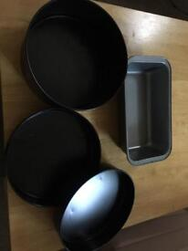 Selection of cake pans